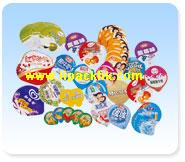 Dairy Food Foil Lids with Embossing