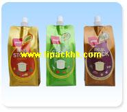 Center Spouted Pouch for juice